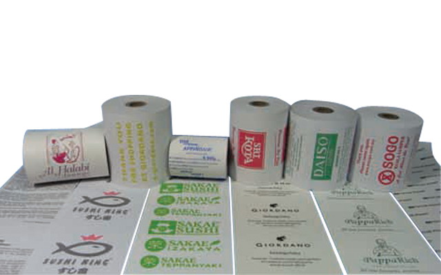 pre-printed paper roll